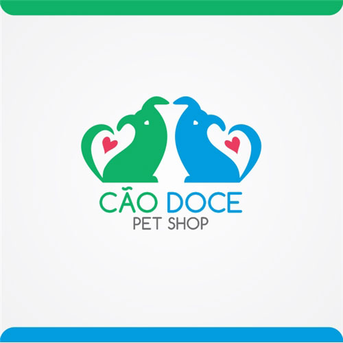 Logo do pet shop Cão Doce - Modelo 1